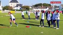 Football féminin. L'équipe des USA  à l'entrainement à Quiberon
