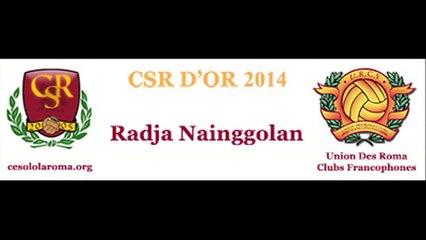 Nainggolan, CSR d'OR 2014, remise trophée