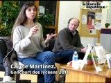 La romancière Carole Martinez à la rencontre des élèves du lycée horticole de Blois.