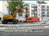 VIDEO. Tours : 50 mètres de voie du tramway démolis avenue de Grammont