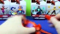 Disney Big Hero 6 Character Unboxing Hiro, Baymax, Go Go Tomago, Wasabi No Ginger, Yokai
