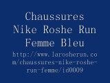chaussures nike roshe run id femme (bleu Clair/blanc/blanc logo)