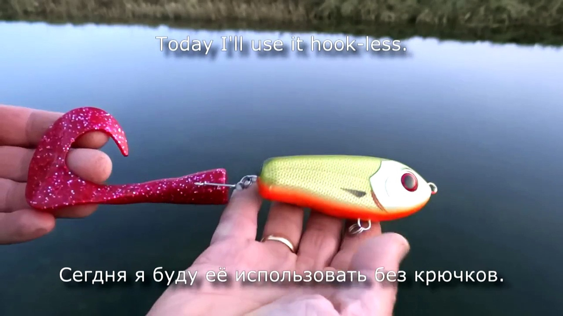 Pike attack Wolf Tail under water  Fishing camera Рыбалка щука атака Lure muskie zan