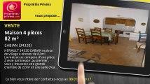 A vendre - maison - GABIAN (34320) - 4 pièces - 82m²