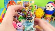 Play Doh Surprise Eggs BFFS Kingdom Hearts Disney Vinylmations DCTC Toys Playdough EGG Videos