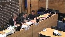 Mme Céline Parisot, secrétaire générale de l'Union syndicale des magistrats, et M. Olivier Janson, secrétaire national  - Jeudi 5 Février 2015