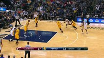 LeBron James Half Court Pass Kyrie Irving Layup - Cavaliers vs Pacers - February 6, 2015 - NBA