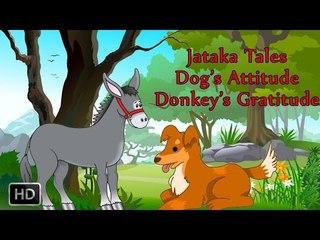 Jataka Tales - Dog's Attitude Donkey's Gratitude - Moral Stories - Animated Cartoons/Kids