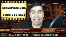 Michigan St Spartans vs. Illinois Fighting Illini Free Pick Prediction NCAA College Basketball Odds Preview 2-7-2015