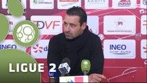 Conférence de presse Dijon FCO - FC Sochaux-Montbéliard (1-0) : Olivier DALL'OGLIO (DFCO) - Olivier ECHOUAFNI (FCSM) - 2014/2015
