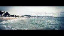 Goelands mer Cannes Fevrier Hiver 2015 Vagues oiseaux bord de mer