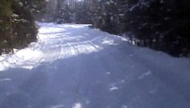 Randonnée motoneige 07.02.2015 vidéo 08 Passage dans les bois.