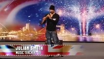 Julian Smith plays the saxophone Britains Got Talent 2009 Show 2