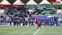 """Football féminin Eugenie Le Sommer : """"on a envie  de faire une belle performance"""""""