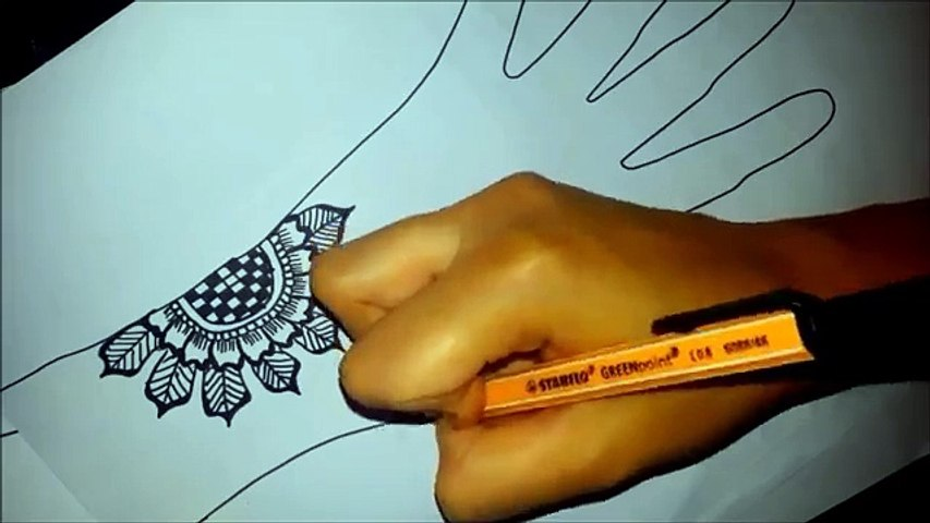 Arabic Floral Henna Easy Mehndi Design On Paper How To Draw Simple Henna Flowers Video Dailymotion