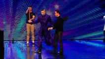 Aaron Crow shows off his blindfolded swordskills Week 3 Auditions Britains Got Talent 2013