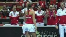 Fed Cup+ Johanna Larsson (SWE) v Belinda Bencic (SUI)