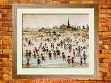 Framed Posters: - L S Lowry At the Seaside Framed Art Print (69 x 78 cm)