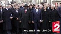 JT France 2 20H00 - David Pujadas interroge Nicolas Sarkorzy sur sa place au 1er rang, lors de la Marche Républicaine du 11 janvier - Mercredi 21 janvier 2015