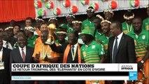 CAN-2015 : retour triomphal des Éléphants en Côte d'Ivoire