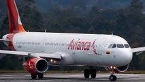 Avianca airlines Airbus A321 take off MDE José María Córdova International Airport  Columbia