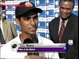 Ajay Ratra Man of the MATCH AWARD 2001