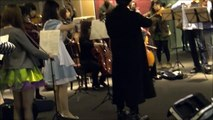 国立音楽大学 フラッシュモブ ベートーベン 第九 flash mob Kunitachi College of Music beethoven symphony No.9     in Tokyo