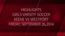 Girls Soccer - Keene Beavers vs Westport Eagles 09-26-2014 - Highlights