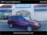 2007 Toyota Highlander Baltimore Maryland | CarZone USA