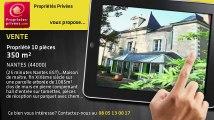 A vendre - propriété - NANTES (44000) - 10 pièces - 350m²