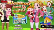 Moms and Babies Dress Up Game - dress up three moms and babies
