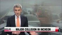Major collision involving over 60 vehicles crashes on Yeongjong Bridge
