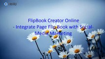 Promote your page flip book via social network with flipbook creator online