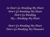 Agnes - Don't Go Breaking My Heart
