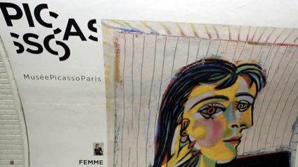Picasso descend dans le metro