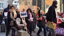 Manifestation de personnes handicapées