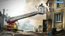 Incendie à Signy-l'Abbaye, quatre maisons en feu.