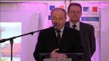 Inauguration de l'aire de contrôle des transports routiers d'Abbeville par le sous-préfet d'Abbeville le 28 novembre 2012
