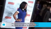 Pregnant Samantha Mumba Involved in Scary Car Accident One Week Before Due Date