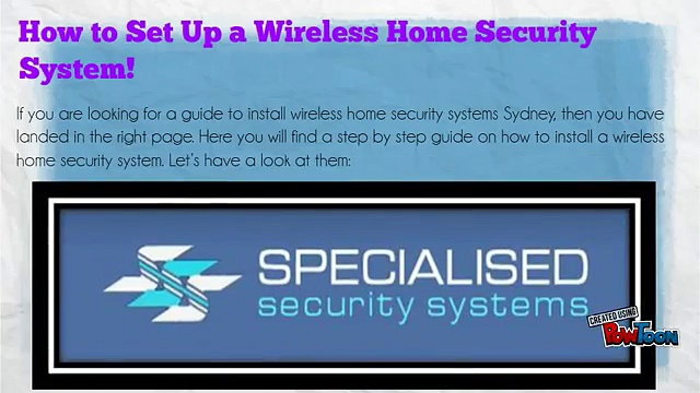 How to Set Up a Wireless Home Security System!