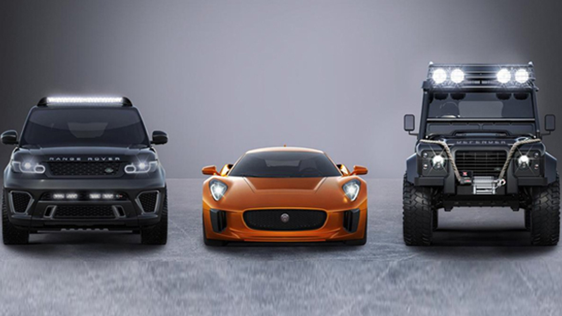 James Bond SPECTRE To Feature Jaguar C-X75, Range Rover Sport SVR And Land Rover Defender Big Foot