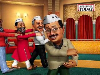 So Sorry: Kejriwal singing and dancing to glory