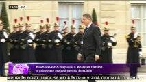 România încurajează parcursul european al Republiciii Moldova. Declaraţia a fost făcută la Paris de preşedintele român, Klaus Iohannis