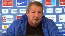 Rolland Courbis avant la rencontre A.S Monaco - Montpellier HSC (25e journée de Ligue 1)