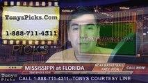 Florida Gators vs. Mississippi Rebels Free Pick Prediction NCAA College Basketball Odds Preview 2-12-2015