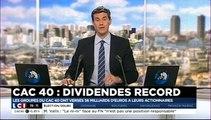 56 milliards € de dividendes pour les actionnaires d'entreprises du CAC 40 en 2014