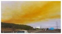 Un nuage toxique au-dessus du ciel espagnol