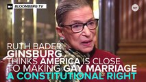Notorious RBG Says We're Close To Accepting Same-Sex Marriage