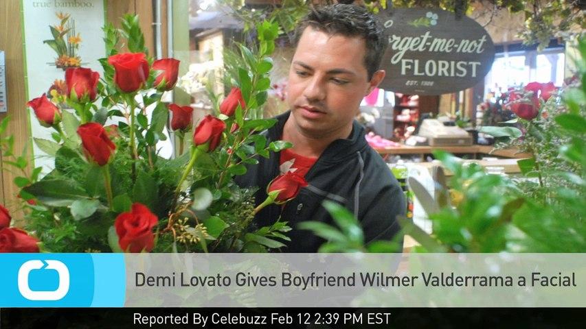 Demi Lovato Gives Boyfriend Wilmer Valderrama a Facial