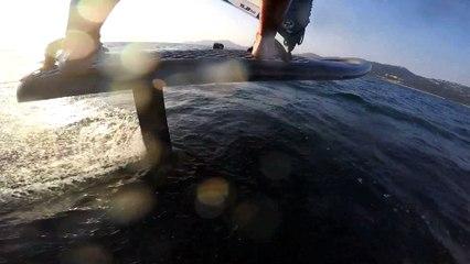 Bruno André explique le foil en windsurf